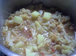 zuppa cappuccio pumadoru e patate
