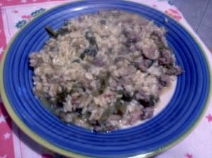 risotto con verze e salsicce