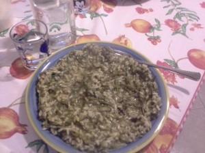 risotto con luppolo e verdure miste