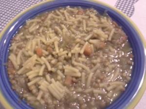 gramigna con le lenticchie