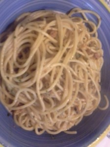 Spaghett alici e nduja