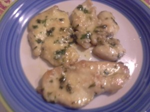 scaloppine di pollo